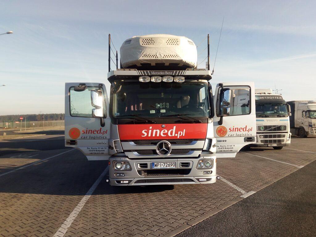 auta transportowane z Belgii do Polski