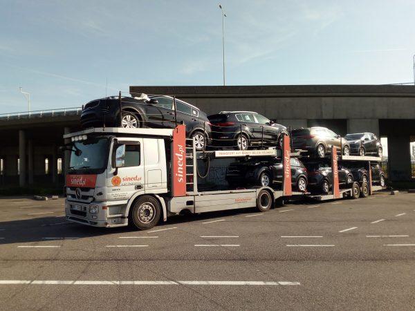 przewóz nowych aut z zagranicy na lawetach
