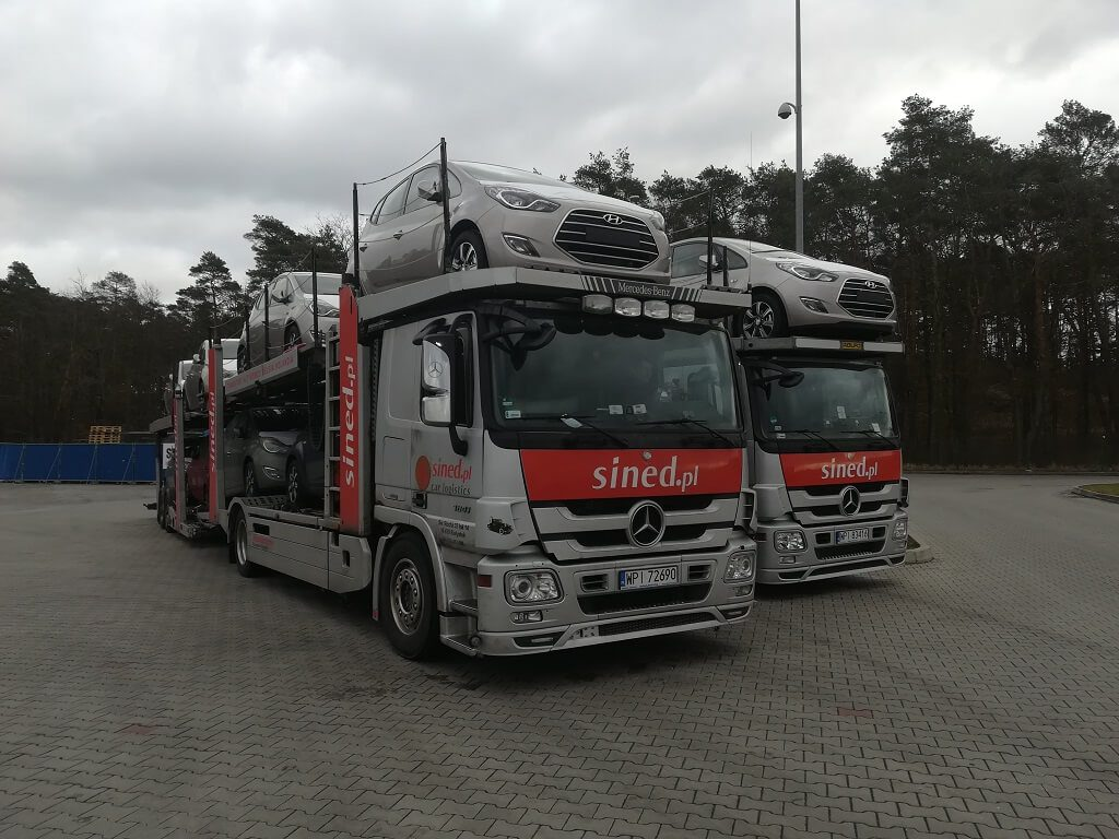 transport aut z Belgii na lawetach