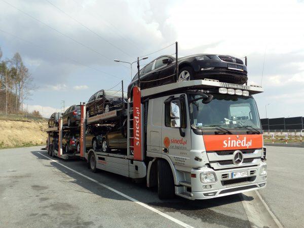 transport nowych aut z Holandii do Polski